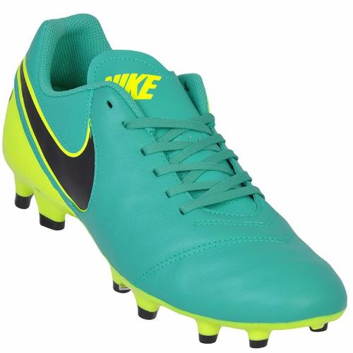 Chuteira Nike Tiempo Genio Leather Ii Fg - Couro - Campo - R  219 2d3e5f9724e49