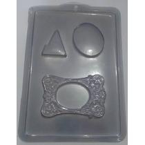 Forma De Acetato Chocolate Porta Retrato Moldura Kit 20 Pçs