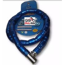 Candado Para Moto Motoneta Azul Y Rojo Alta Seguridad