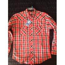 Camisa Vaquera Wrangler Cuadros Roja