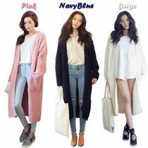 Suéter Cardigan Saco Abrigo Largo Moda Japonesa Envío Gratis