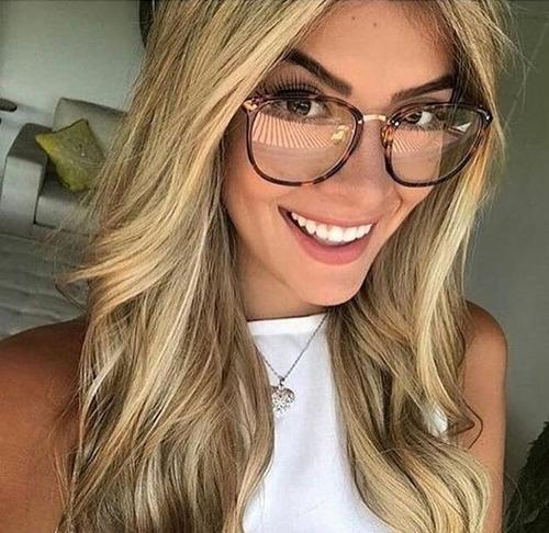a07ca6224 Óculos Feminino Armação Vintage Geek Gatinho Retrô Promoção - R$ 79 ...