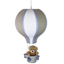 Lustre Grande Balão Luminária Anti Chama Bebê Urso Leão Luz
