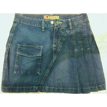 Saia Jeans Plisada Estilo Colegial - Tamanho 38