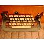 Máquina De Escribir, Telex Funcionando, Caja Roble Americano