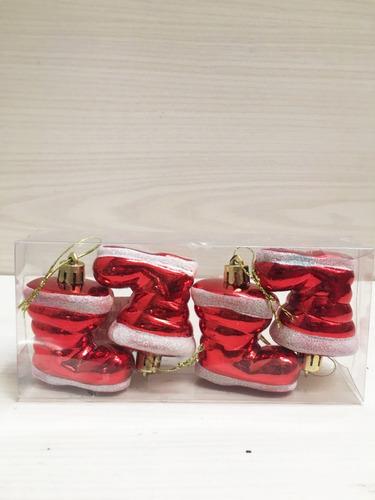 Adorno Para Arbolito Navidad Colgante Botas Chica X4 48526 68 - Adornos-para-botas