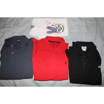3 Chombas Y 1 Remera Large Lacoste New Port Hering Narrow