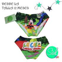 Traje De Baño Niño Mickey Mouse. Desde La Talla 12 Meses