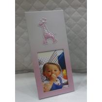 Porta Retrato Aluminio Infantil Rosa Foto 6 X 9