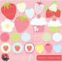 Kit Imprimible Frutillias Imagenes Clipart