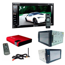 Dvd Automotivo Bluetooth 2 Din + Receptor De Tv Digital