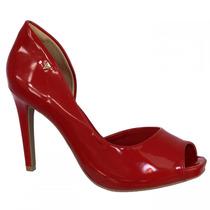 Sapato Peep Toe Feminino Ramarim Verniz Salto Alto 1647201