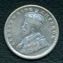 Moneda India Británica 1916 1/2 Rupee Km#522 (plata)