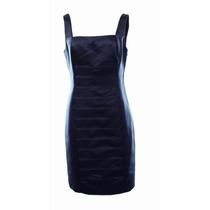 Vestido American Living Azul Marino Talla M 10 Elegante