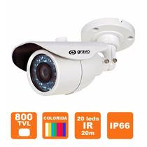 Câmera 1/3 800tvl Ir (20m) D&night Lente 3,6mm
