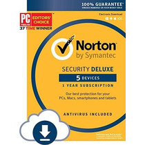 Norton Security Deluxe - 5 Dispositivos [descargar Código]
