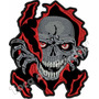Patch Bordado Skull Jaqueta Colete Moto Tam. 20x17cm Car637