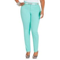 Jeans De Colores, Aqua, Piel Y Naranja Talla Extras Xl Xxl