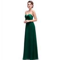 V1193 Vestido Elegante Verde Esmeralda, It Girls Colombia