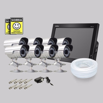 Kit Dvr Stand Alone Monitor 8 Canais Intelbras 8 Camera Sony