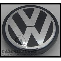 Jogo Calota Central Calotinha Miolo Roda Volkswagen Original
