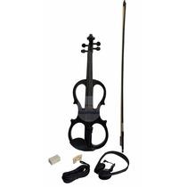 Violino Elétrico C/ Case Arco Preto 7 4/4 Black Friday