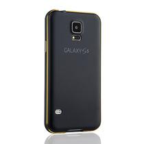 Bumper De Aluminio + Carcaza Piel Para Samsung Galaxy S5