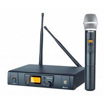 Microfone Sem Fio Staner Mao Srw48s Ht48 Na Cheiro De Musica