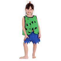 Fantasia Pedrita Infantil Flintstones C/ Acessório Tam M