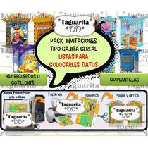Pack Digital Plantillas Cajitas De Cereal Invitacion Recuerd