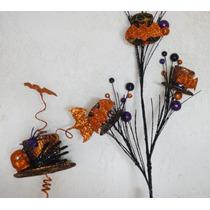 Fiesta Adorno Halloween 4 Sombreros Murciélagos Diamantina