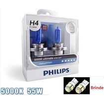 Lampadas Philips Diamond Vision 5000k H4 C/ Leds Gratis