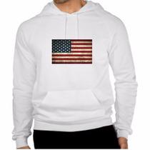 Blusa De Moletom Bandeira Estados Unidos