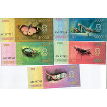 ++ Set De 5 Billetes Annobon Guinea Ecuatorial.