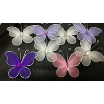 Mariposas De Tul X 15u ,fiestas Decoraciones .ideas..