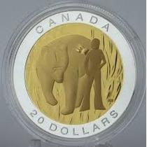 Moneda Canadá Las 7 Enseñanzas Sagradas:coraje - 1oz. Plata