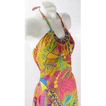 Imponente Vestido Largo Solero Sanskrit-gasa Algodón-india-