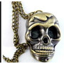 Reloj Collar Calavera Regalo Fashion A La Moda Punk Rock