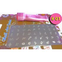 Plantillas Uñas 45 Diseños C/u Manicura Estampador Espátula