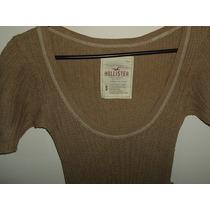 Sweater Vestido Corto Hollister Tejido Nuevo T S
