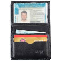 Mini Carteira De Couro Legítimo Porta Cartão Cnh Notas 154