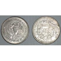 Monedas Antiguas De 50 Pesos Coyolxauhqui Niquel