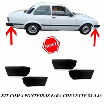 Ponteira Parachoque Chevette 83 84 85 86 Kit Com 4 Peças