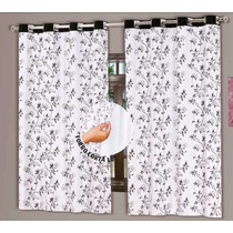 Cortina Blackout Estampada Com Voil 2,80m X 2,60m