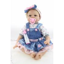 Bebê Reborn Boneca Silicone 55 Cm Importada - Pronta Entrega