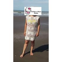 Vestido Playero Tejido Al Crochet Hilo De Algodon