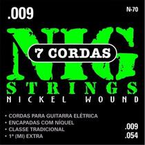 Encordoamento Nig Para Guitarra 7 Cordas Calibre 009