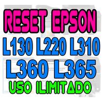 + Reset Oficial Epson L130 L220 L310 L360 L365 Ilimitado +