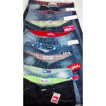 Kit C/ 10 Bermudas Masculinas Jeans Varias Marcas Revenda