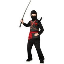 Disfraz Niño Traje Ninja, Negro, Pequeño